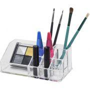 Organizador De Maquiagem Em Acrílico com 09 nichos Transparente