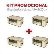 Organizador Multiuso (P) 45x45x20cm - 4 unidades