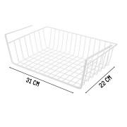 Organizador Multiuso Prateleira De Metal Branco 31x22x8cm