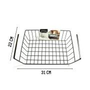Organizador Multiuso Prateleira De Metal Preto 31 x 22 x 8cm