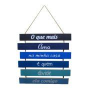 Placa Decorativa em Madeira ? O que mais Amo na Minha Casa