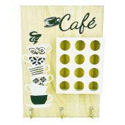 Porta Cápsulas de Café com 12 compartimentos - Marfim