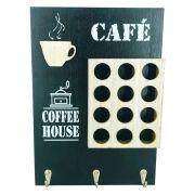 Porta Cápsulas de Café com 12 compartimentos - Preto