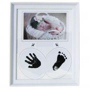 Porta Retrato Bebê Carimbo- Branco