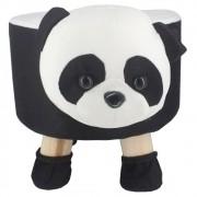Puff Redondo Banquinho Banqueta Infantil -  Uso Panda