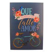 Quadro Decorativo – Bicicleta e Flores MDF