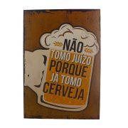 Quadro Decorativo – Cerveja Marrom (MDF)