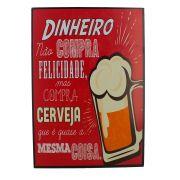 Quadro Decorativo – Cerveja - Vermelha (MDF)