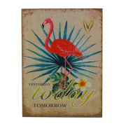 Quadro Decorativo – Yesterday ... Flamingo Vermelho MDF