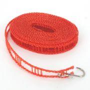 Varal Portátil Pendurar Cabides 02 Ganchos Vermelho 5m
