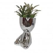 Vaso Para Plantas Robert Plant Sentado Perna Cruzada Prata