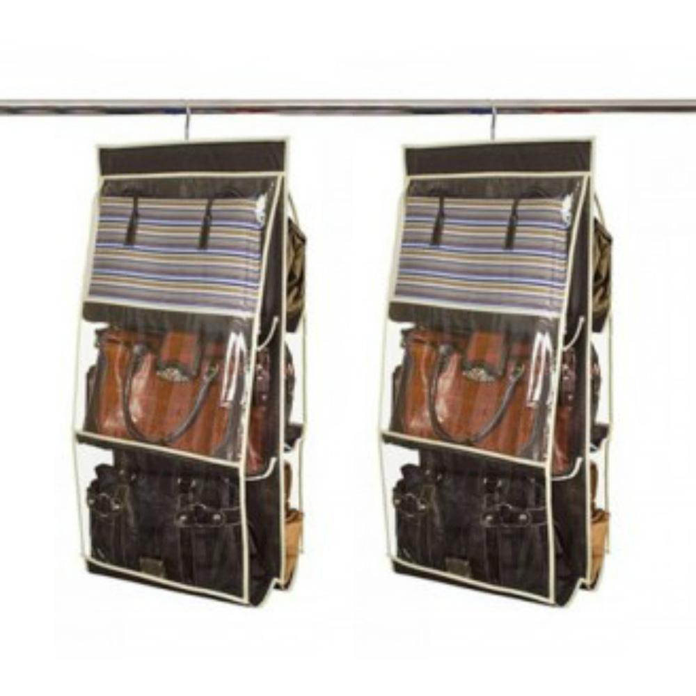 Organizador de Bolsas VB Home para Cabide Preto  2 peças  - Shop Ud