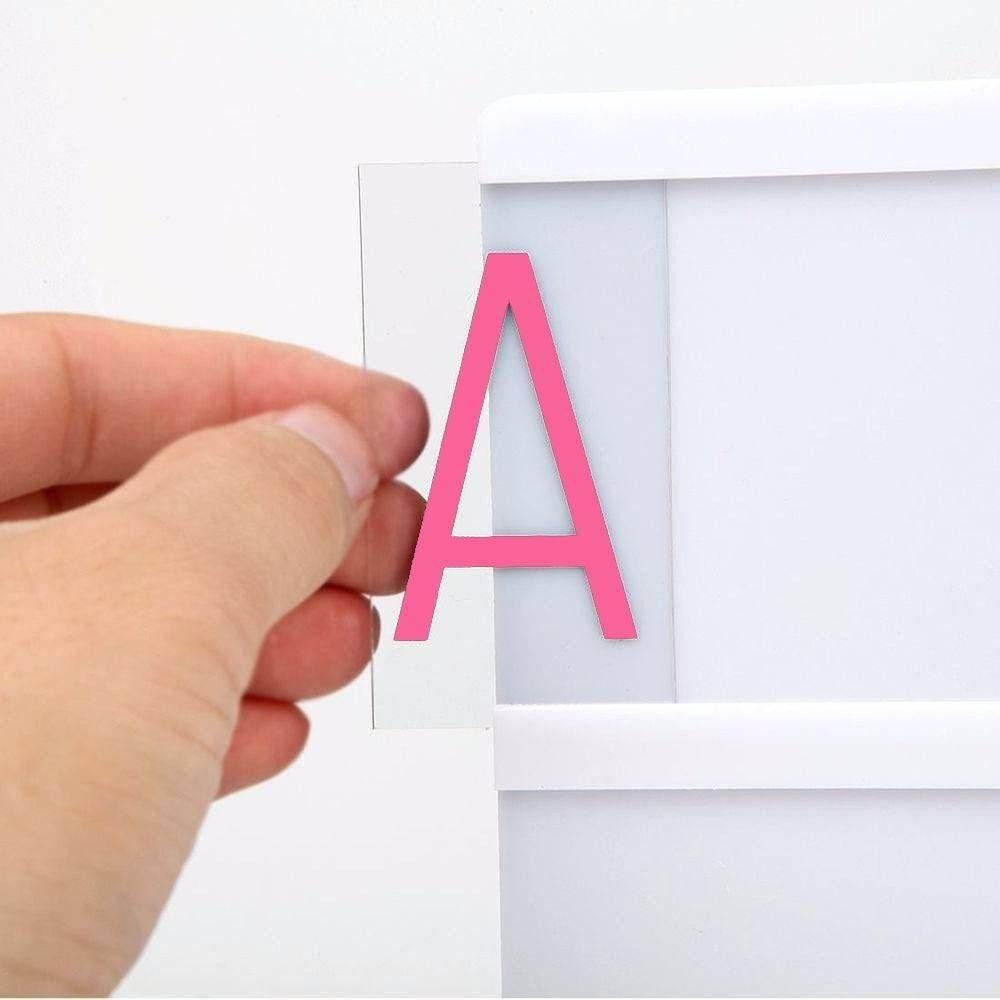 85 Letras Coloridas Luminária Letreiro De Cinema Lightbox A4   - Shop Ud
