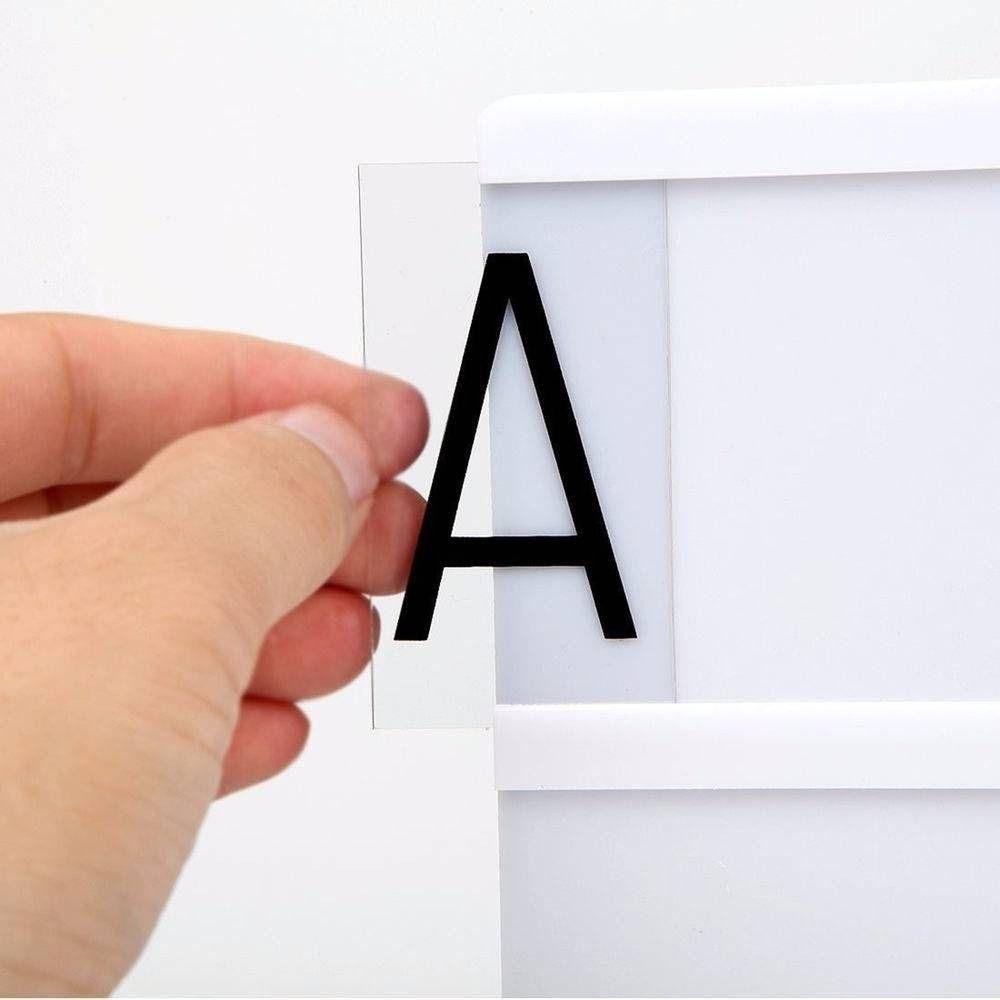 96 Letras Pretas para Luminária Letreiro De Cinema Lightbox A4  - Shop Ud
