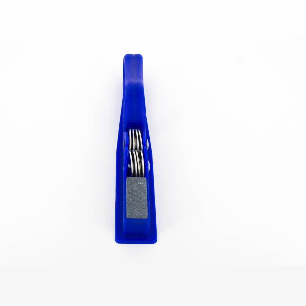 Afiador de Faca e Tesoura - Azul  - Shop Ud