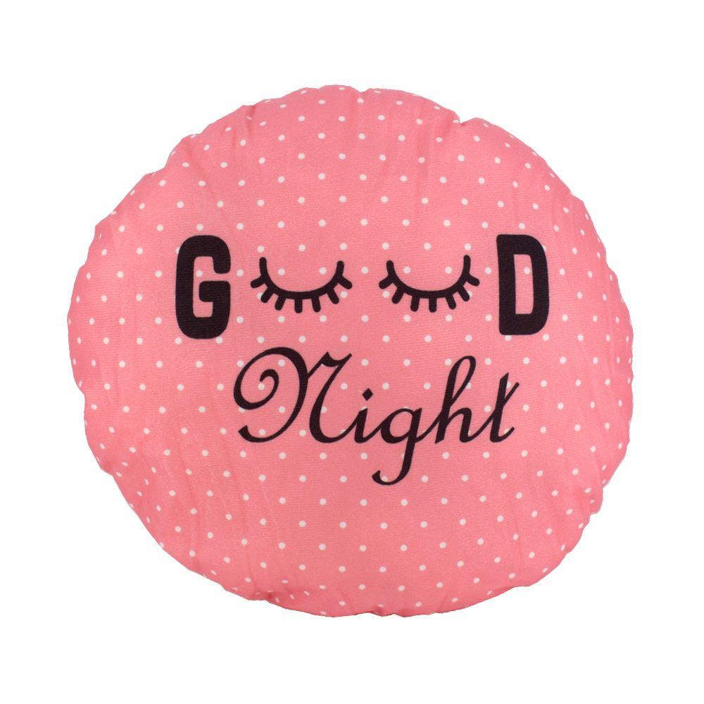 Almofada Decorativa Cílios 30cm Good Night Poá Rosa Branca  - Shop Ud