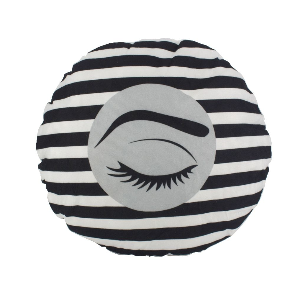 Almofada Decorativa de Cílios 30cm  - Listada Preto e Branco  - Shop Ud