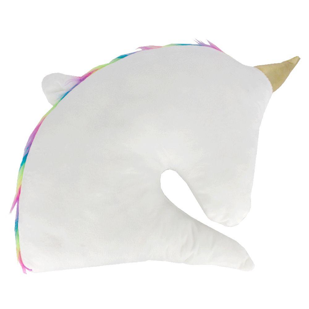 Almofada Decorativa em Formato de Unicórnio - Branco 35x30cm  - Shop Ud