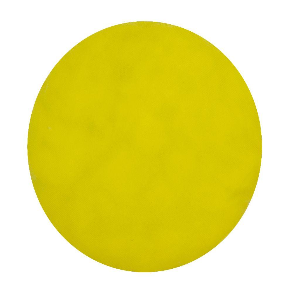 Almofada Decorativa Redonda - 31 cm - Gratidão - Amarelo  - Shop Ud