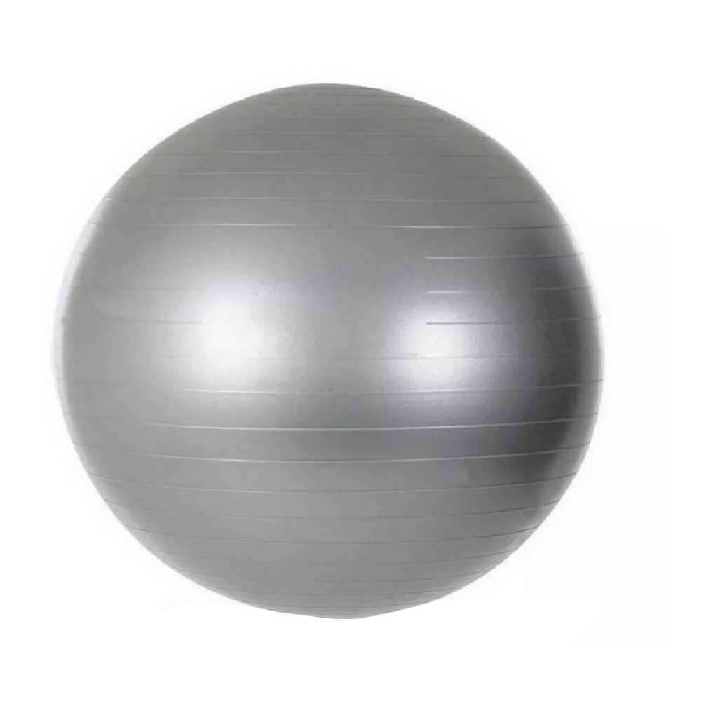 Bola Pilates Yoga Abdominal Ginástica 55 cm c/ Bomba - Cinza