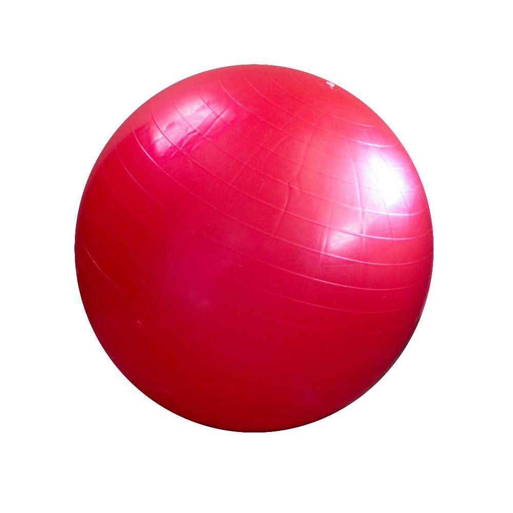 Bola Pilates Yoga Abdominal Ginastica 55 cm c Bomba Vermelha
