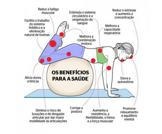Bola Suíça Pilates Massagem 65 cm com Bomba Yoga Ginástica  - Shop Ud