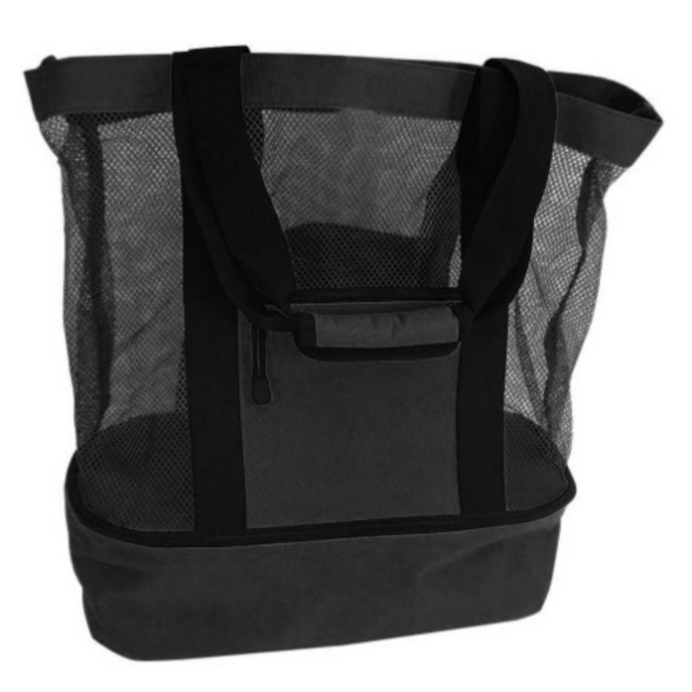 Bolsa de Praia com Compartimento Térmico - Preta  - Shop Ud