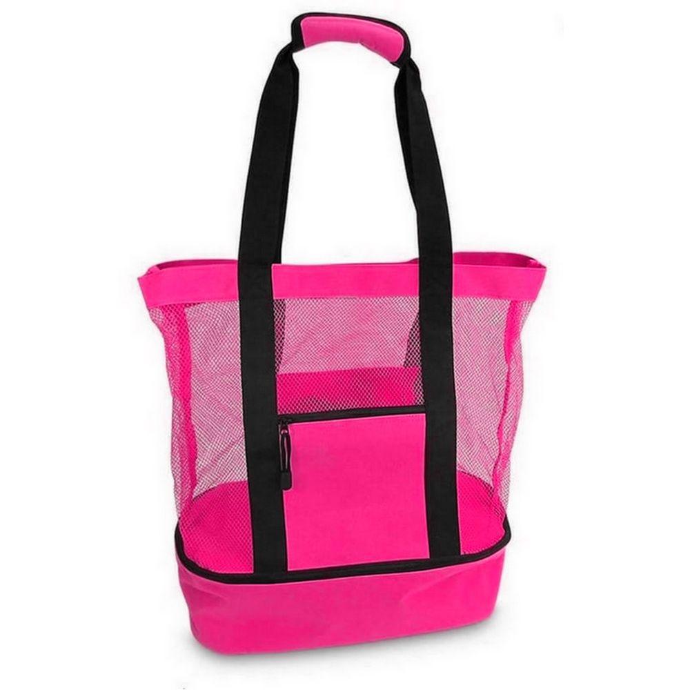 Bolsa de Praia com Compartimento Térmico - Rosa (Pink)  - Shop Ud
