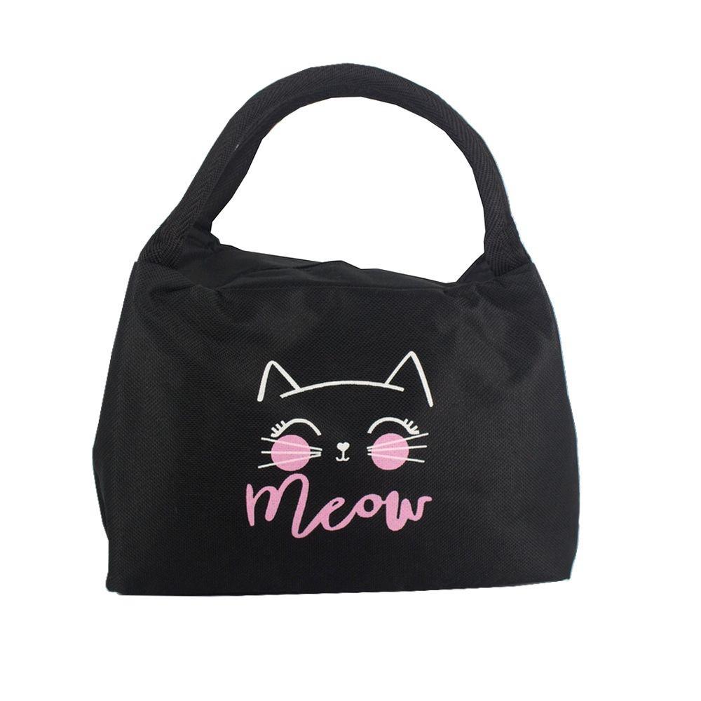Bolsa Necessaire Térmica Marmita - Meow Gato (Preto)  - Shop Ud