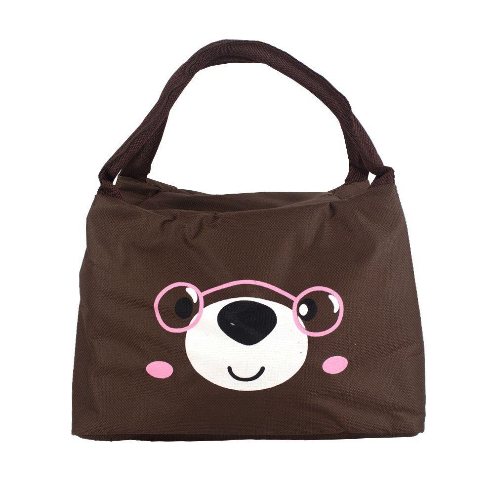 Bolsa Necessaire Térmica Urso de Óculos Rosa (Fundo Marrom)  - Shop Ud