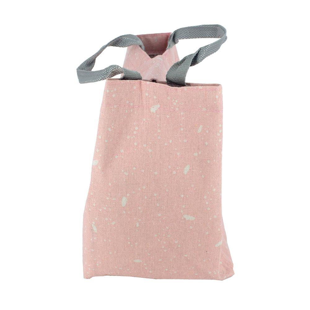 Bolsa térmica em Tecido - Rosa com Branco  - Shop Ud