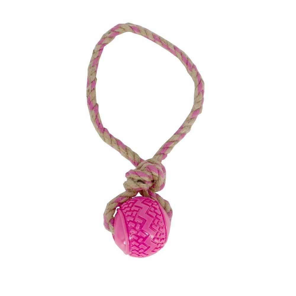 Brinquedo Mordedor Corda Com Bola Para Cães Grandes - Rosa  - Shop Ud
