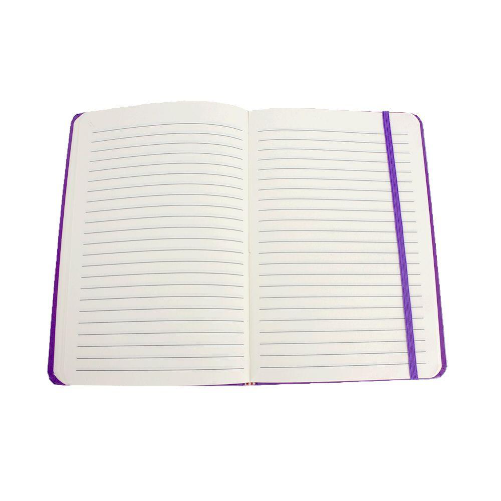 Caderno Diário Unicórnio Nuvem Diamante Fundo Roxo 80 Fls  - Shop Ud