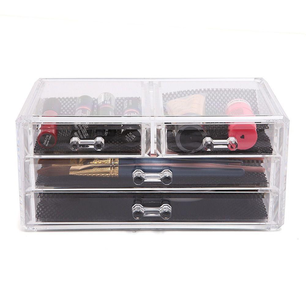 Caixa Acrílico Organizador Maquiagem Bijuteria com 4 Gavetas   - Shop Ud