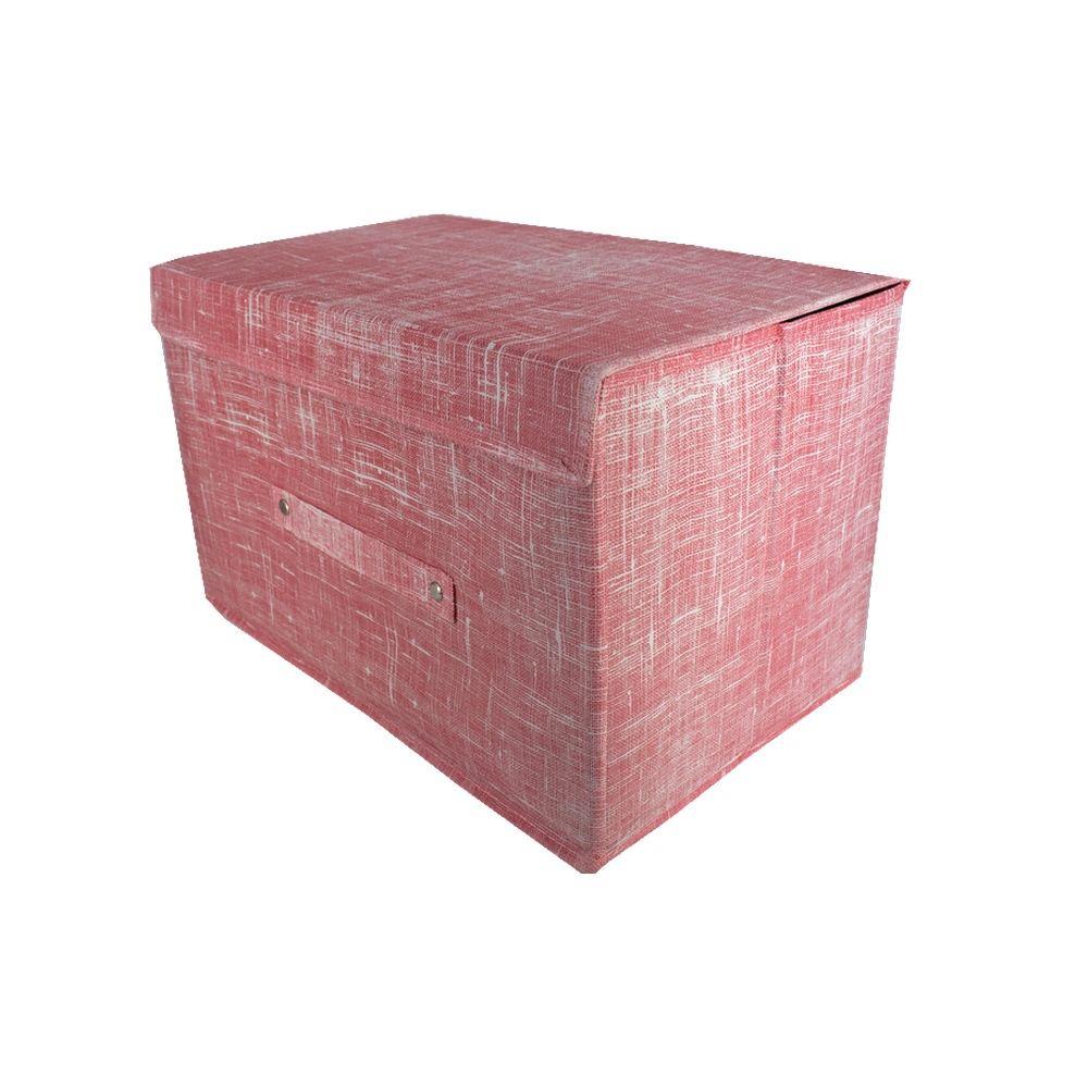 Caixa Grande Organizadora Multiuso Vermelha 38X25X25cm