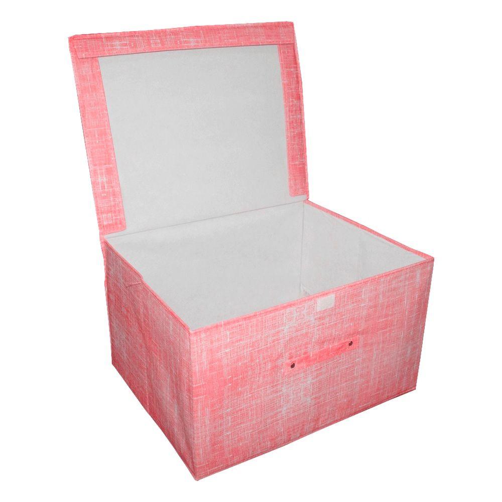 Caixa Grande Organizadora Multiuso - Vermelha - 50x40x30cm  - Shop Ud