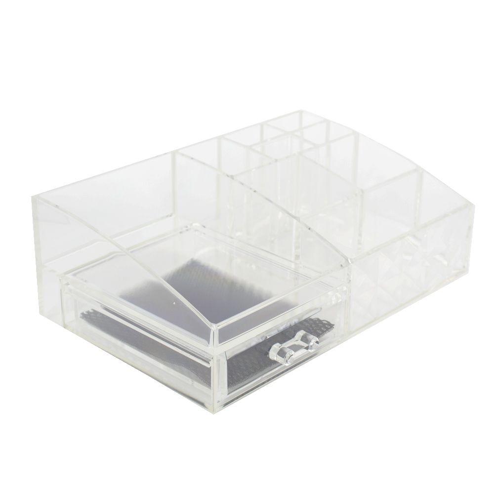 Caixa Organizadora Acrílica com 01 Gaveta e 09 Nichos  - Shop Ud