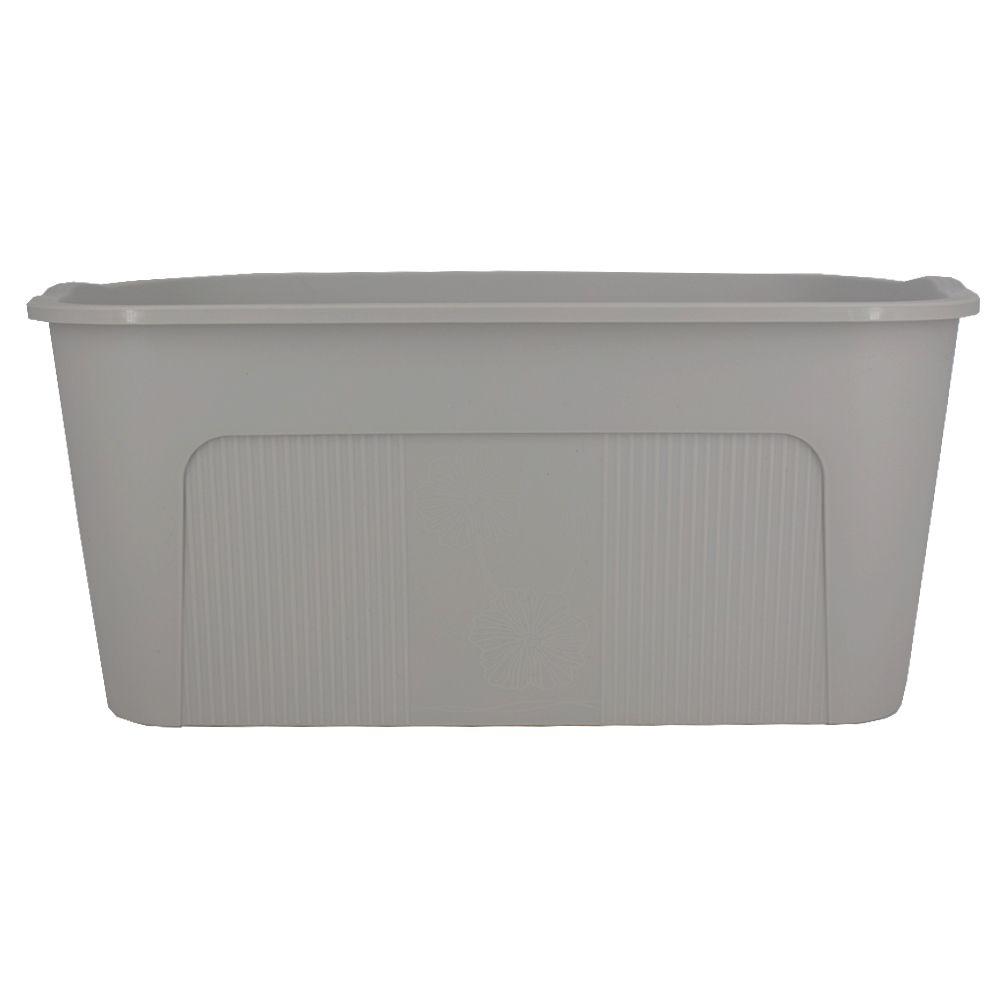 Caixa Organizadora de Plástico Cinza com Tampa 34x23x14cm  - Shop Ud