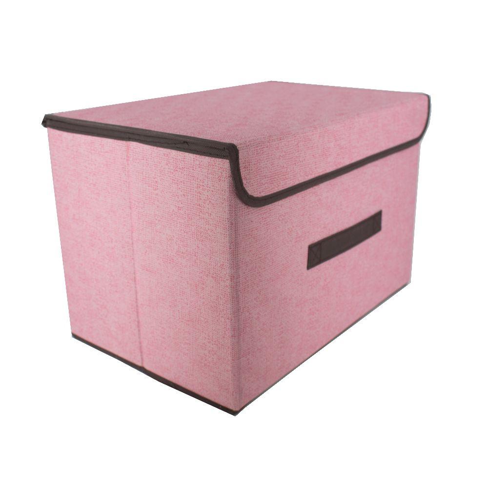 Caixa Organizadora Dobrável Multiuso Rosa (37,5x24,5x23,5cm)