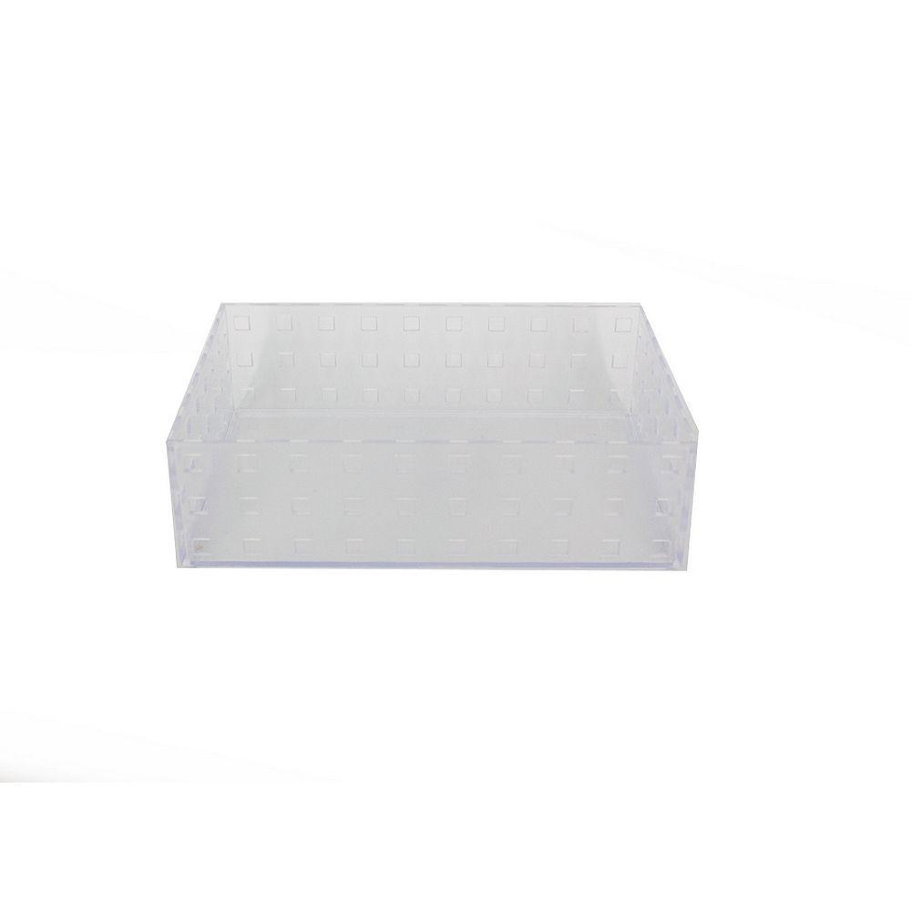 Caixa Organizadora Empilhável Acrílica 20,9cm x 14cm x 6,3cm  - Shop Ud
