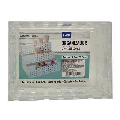 Caixa Organizadora Empilhável acrílica 14 cm x 10,5cm x 6,3cm   - Shop Ud