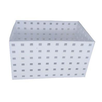Caixa Organizadora Empilhável Branca 20,9x14x12,3cm