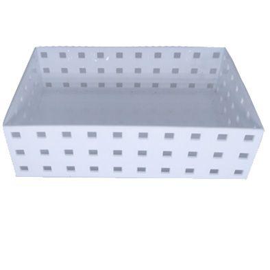 Caixa Organizadora Empilhável branca 20,9x14x6,3cm