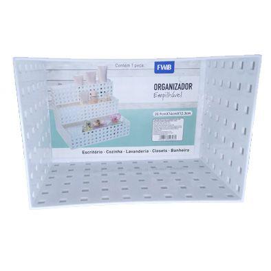 Caixa Organizadora Empilhável branca 20,9x14x6,3cm  - Shop Ud