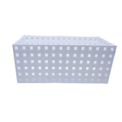 Caixa Organizadora Empilhável branca 27,9x14x12,3cm