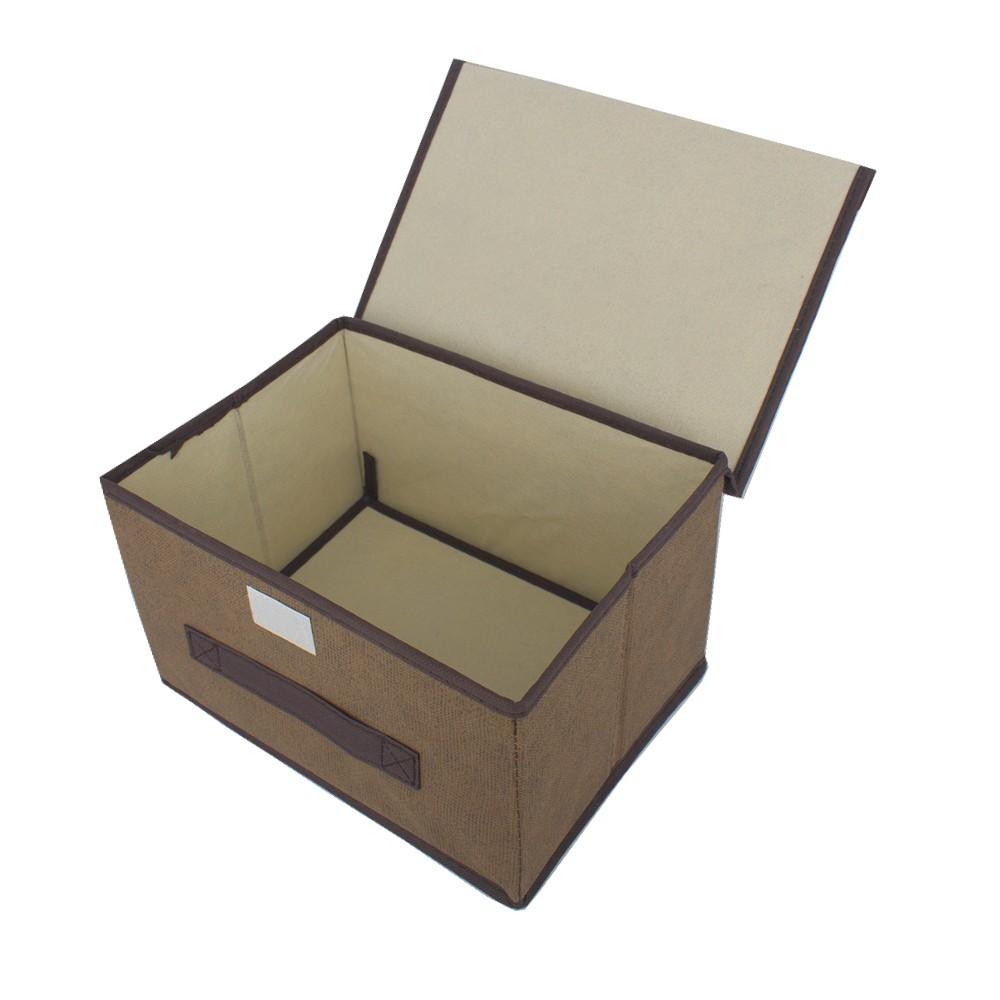 Caixa Organizadora Multiuso com Tampa - Marrom (26x20x16)  - Shop Ud