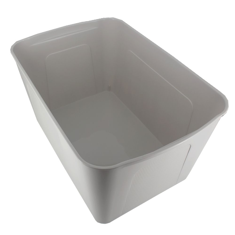 Caixa Organizadora Plástico Cinza com Tampa 46,5x31,8x24,8cm  - Shop Ud