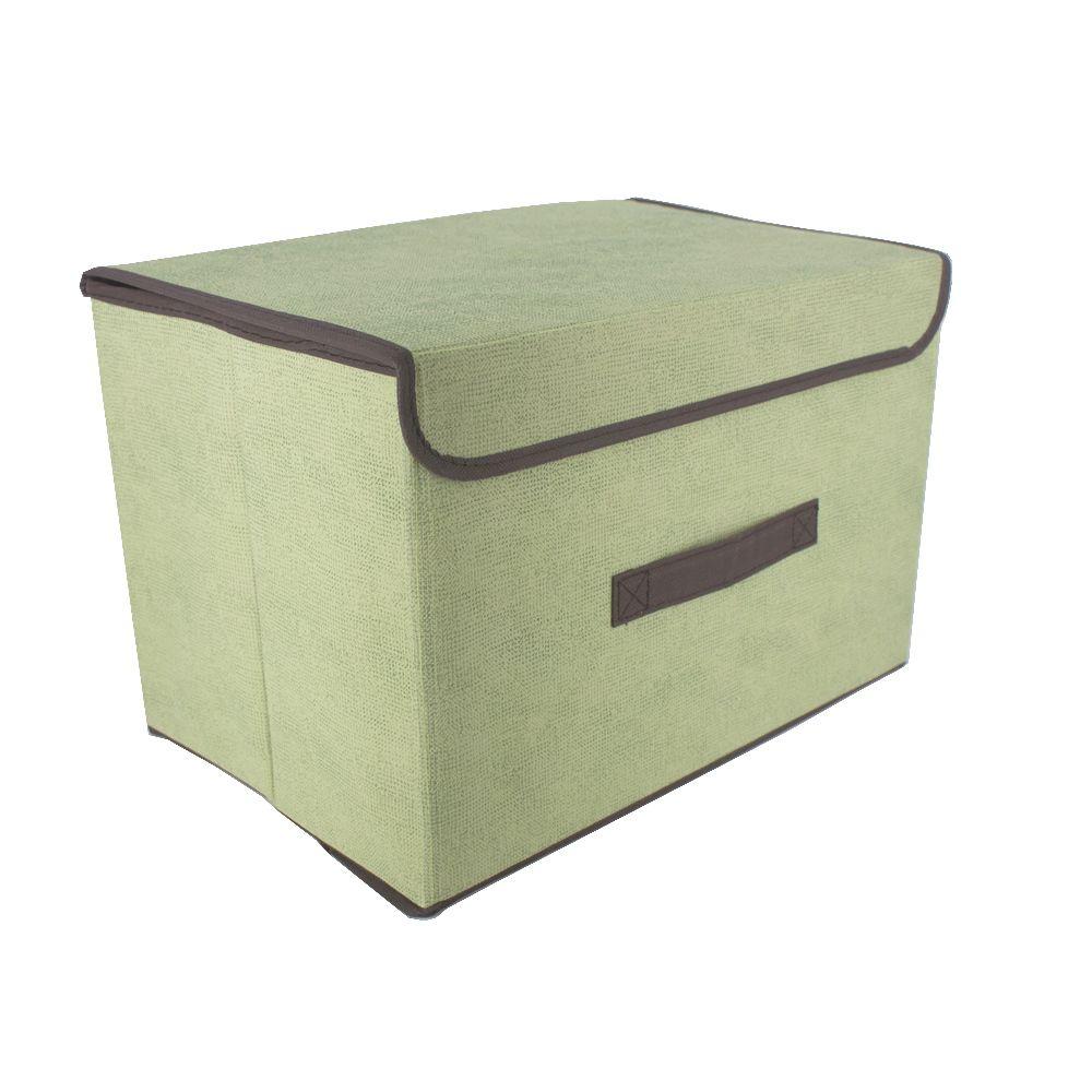 Caixa Organizadora Tnt Dobrável Multiuso Verde 37x24x24