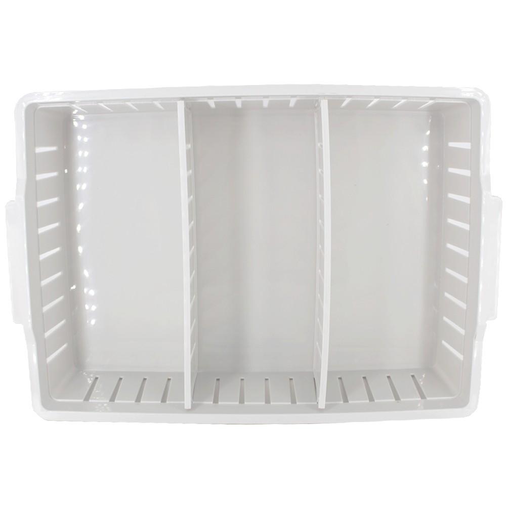 Caixa Plástica Organizadora 02 Divisórias Movel 28,8 x 17 cm - Cinza  - Shop Ud
