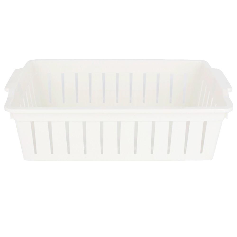 Caixa Plástica Organizadora 02 Divisórias Movel 28,8 x 17cm Branco  - Shop Ud